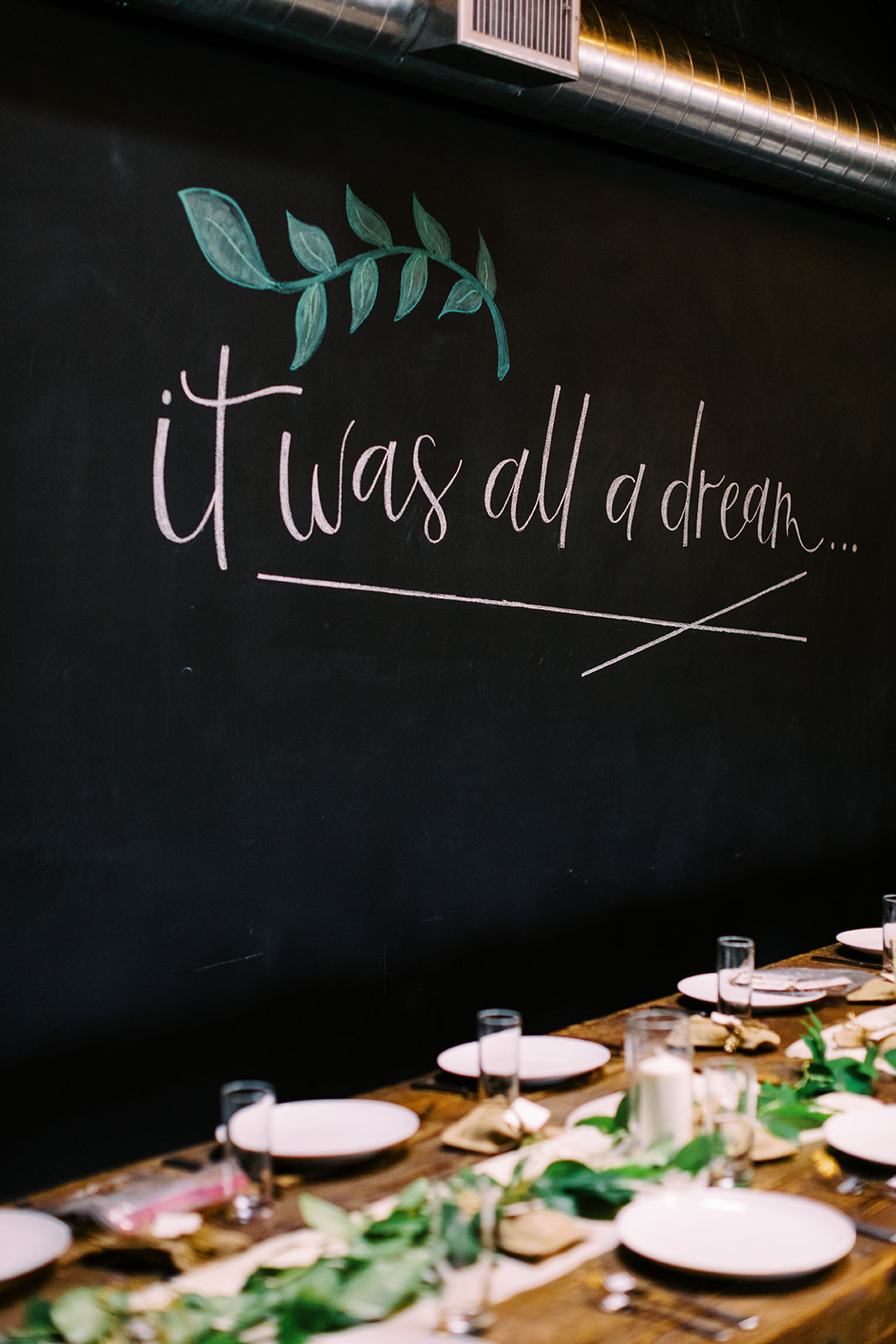 Smoky Hollow Studios Wedding Chalkboard