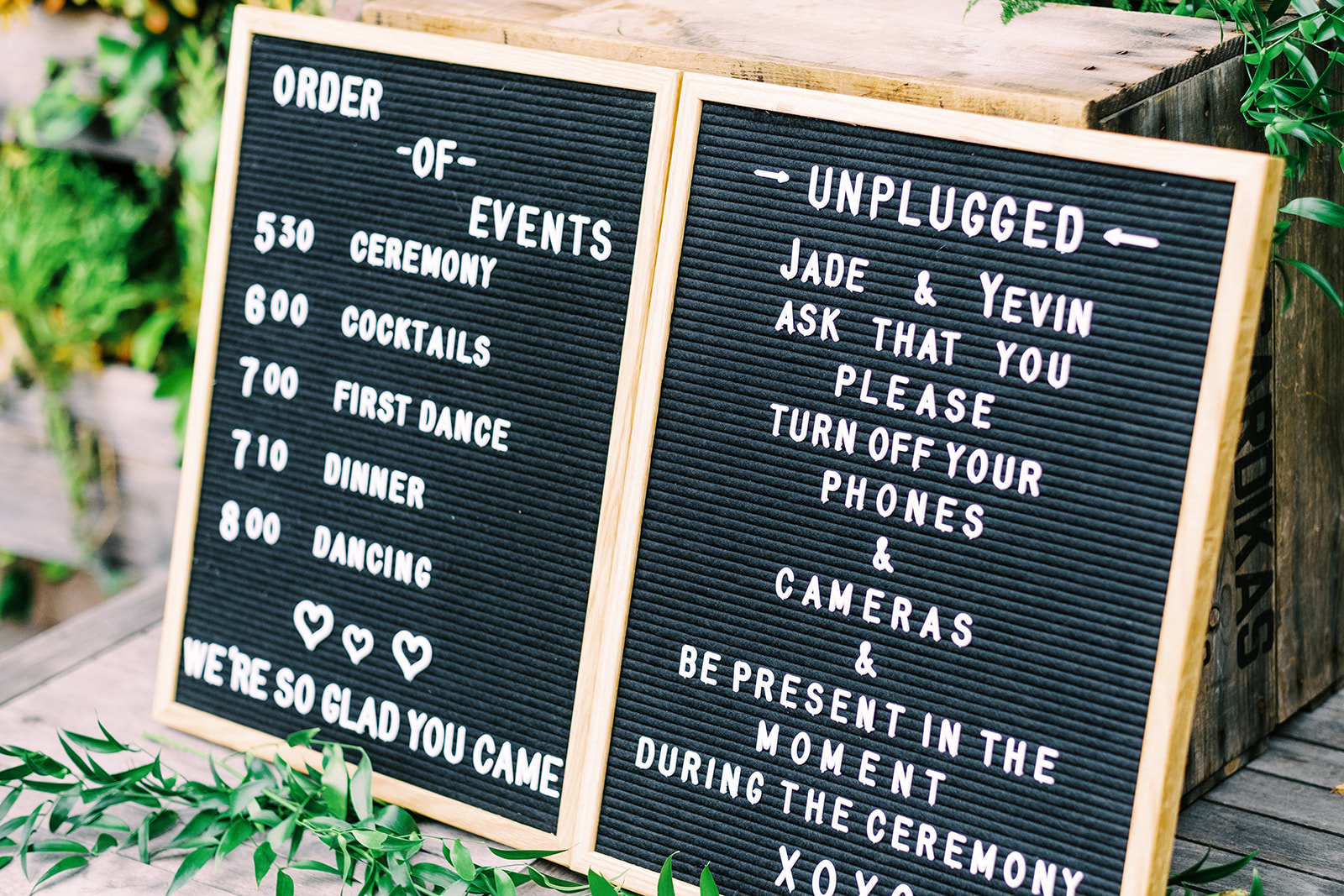 Wedding Letter Board Sign