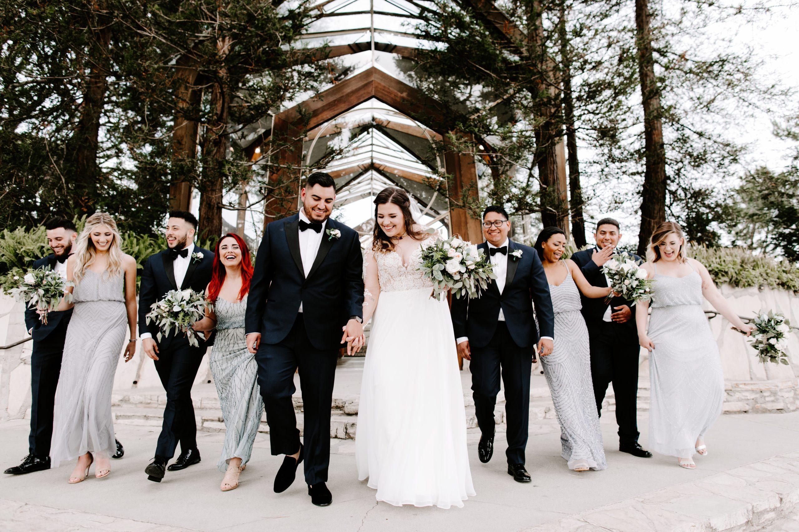 Bridal Party at Wayfarers Chapel Wedding