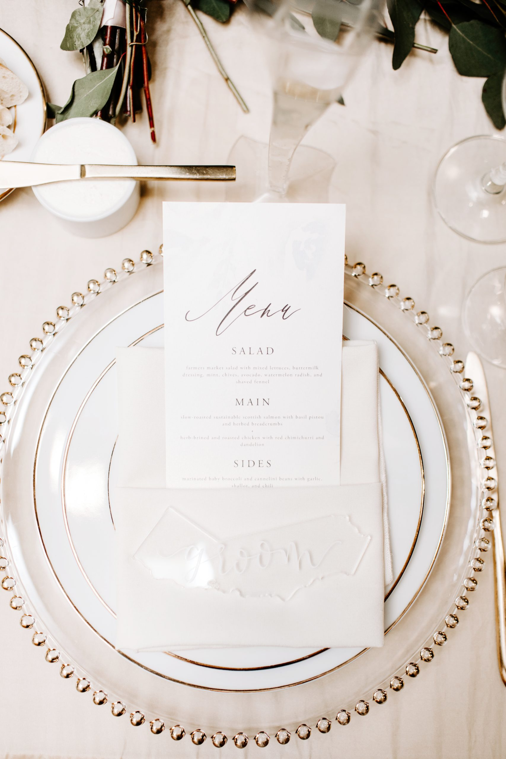 Personalized Acrylic Placecards