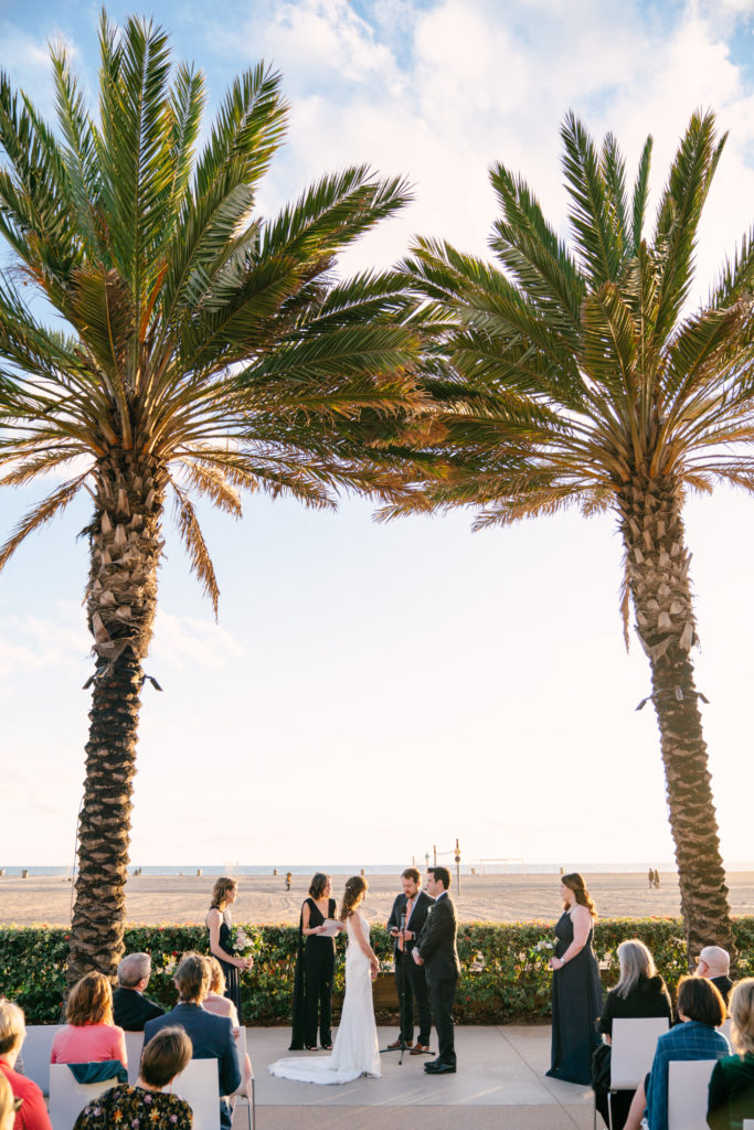 Outdoor beach ceremony for small wedding