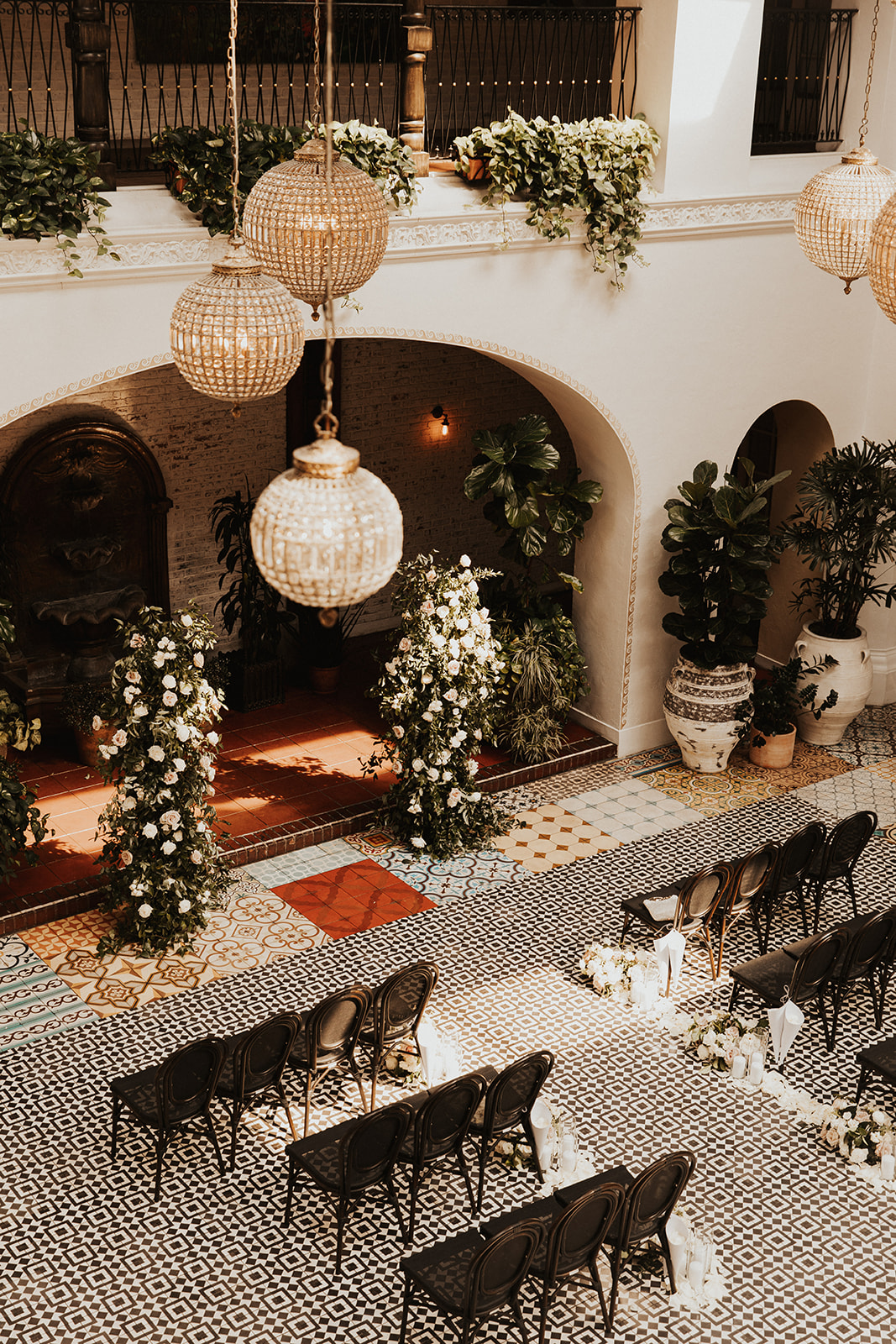 Small wedding ceremony at Ebell of Long Beach