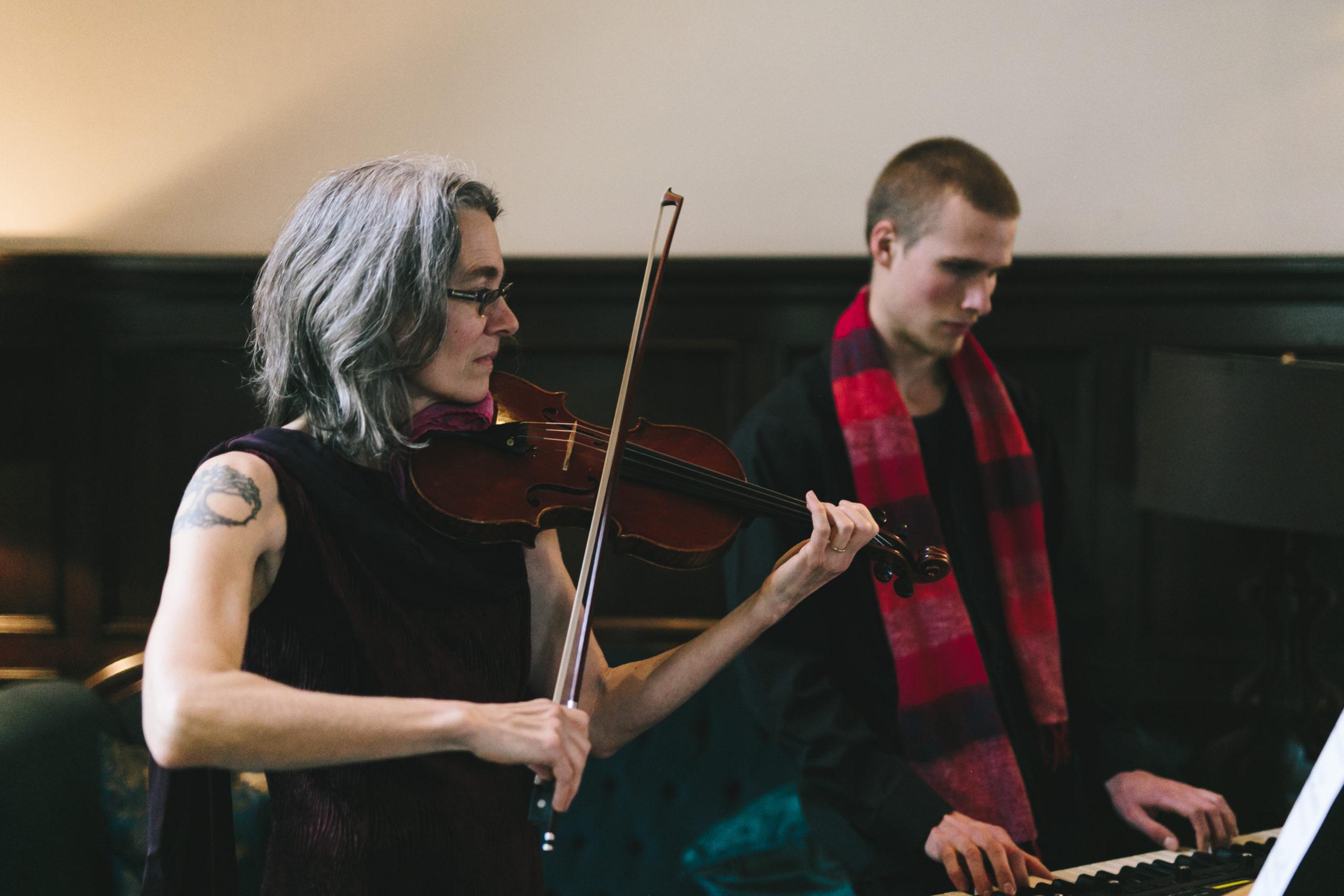 Live musicians at Culver Hotel wedding