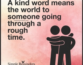 Kindness is Contagious.