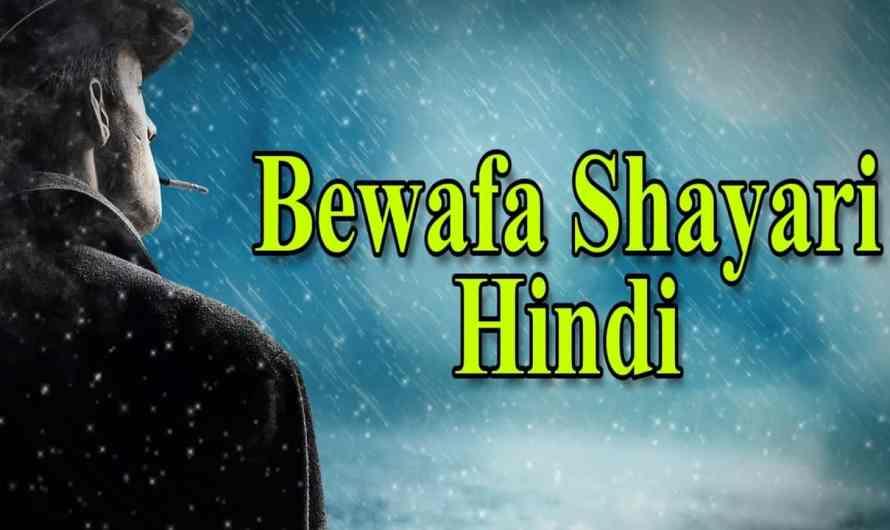 Bewafa Shayari | बेवफा शायरी | Bewafa Shayari in Hindi