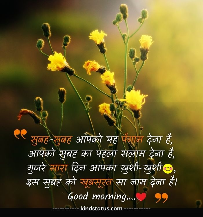 good morning in hindi