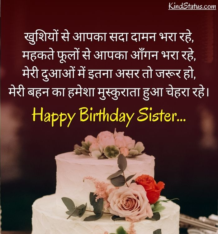 Birthday Wishes for Little Sister in Hindi