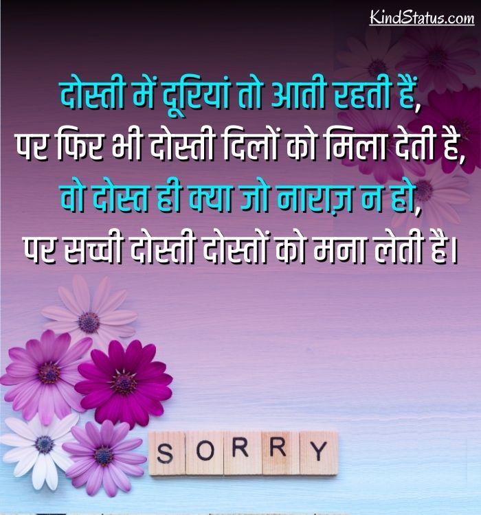 sorry shayari for sister
