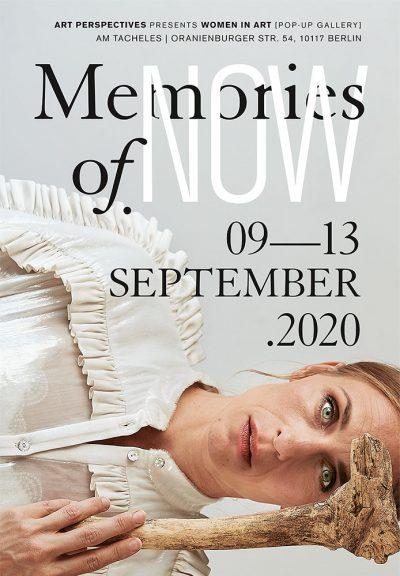 Plakat der Ausstellung Memories of Now zur Berlin Art Week und dem Gallery Weekend Berlin am Tacheles