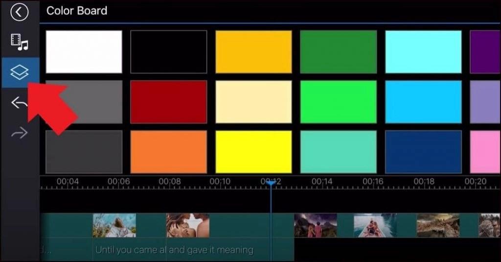 Create Transition using a color board