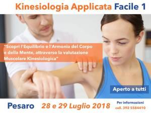 KINESIOLOGIA APPLICATA FACILE 1 @ PESARO | Montecchio di Sant'Angelo in Lizzola | Marche | Italia