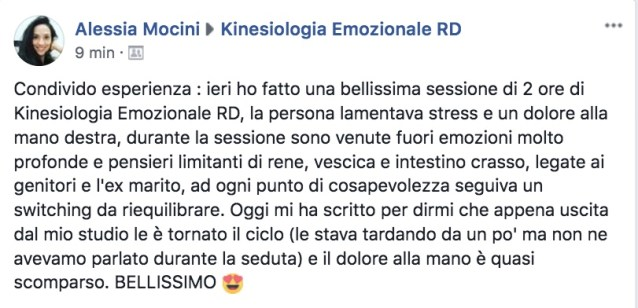 Kinesiologia Emozionale Fisioterapista Osteopata