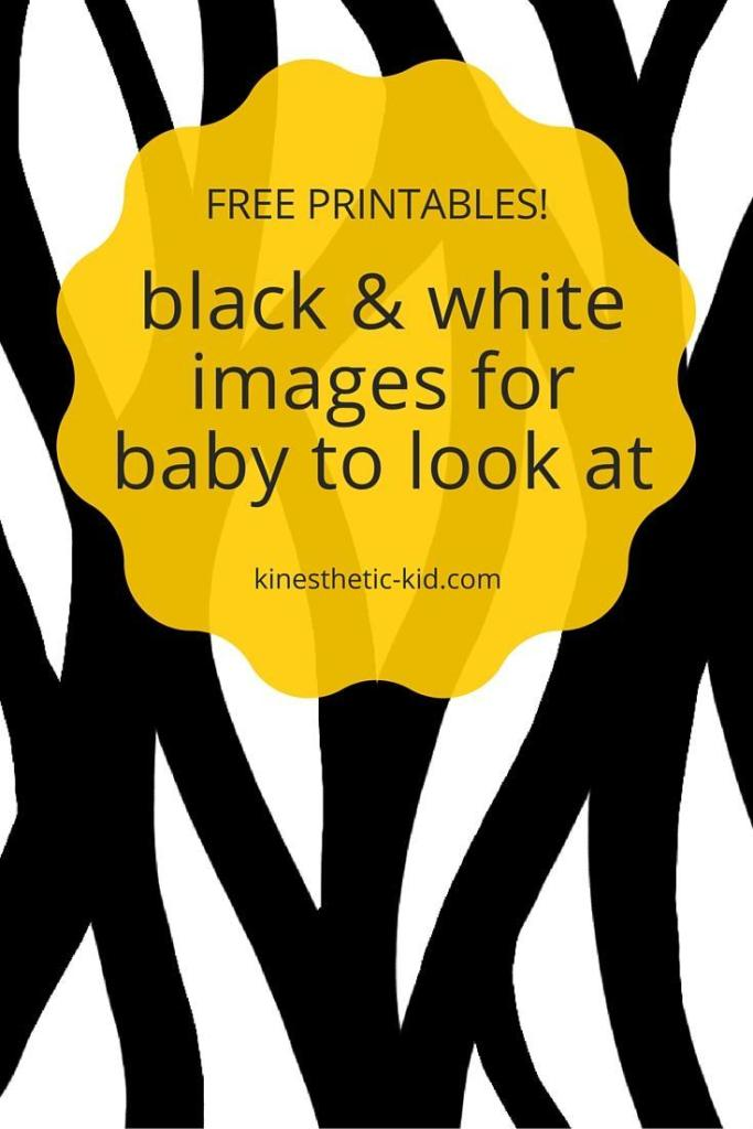 Black and white images for newborns free printable
