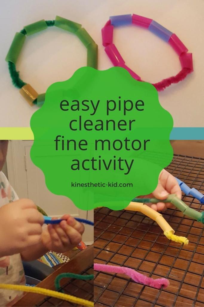This activity was a blast! Pipe Cleaner Fine Motor Activity was more than meets the eye. Color matching and pretend play