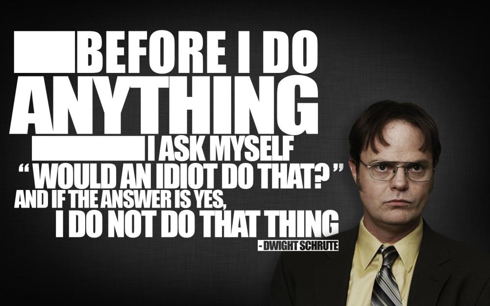 dwight schrute quote from the office