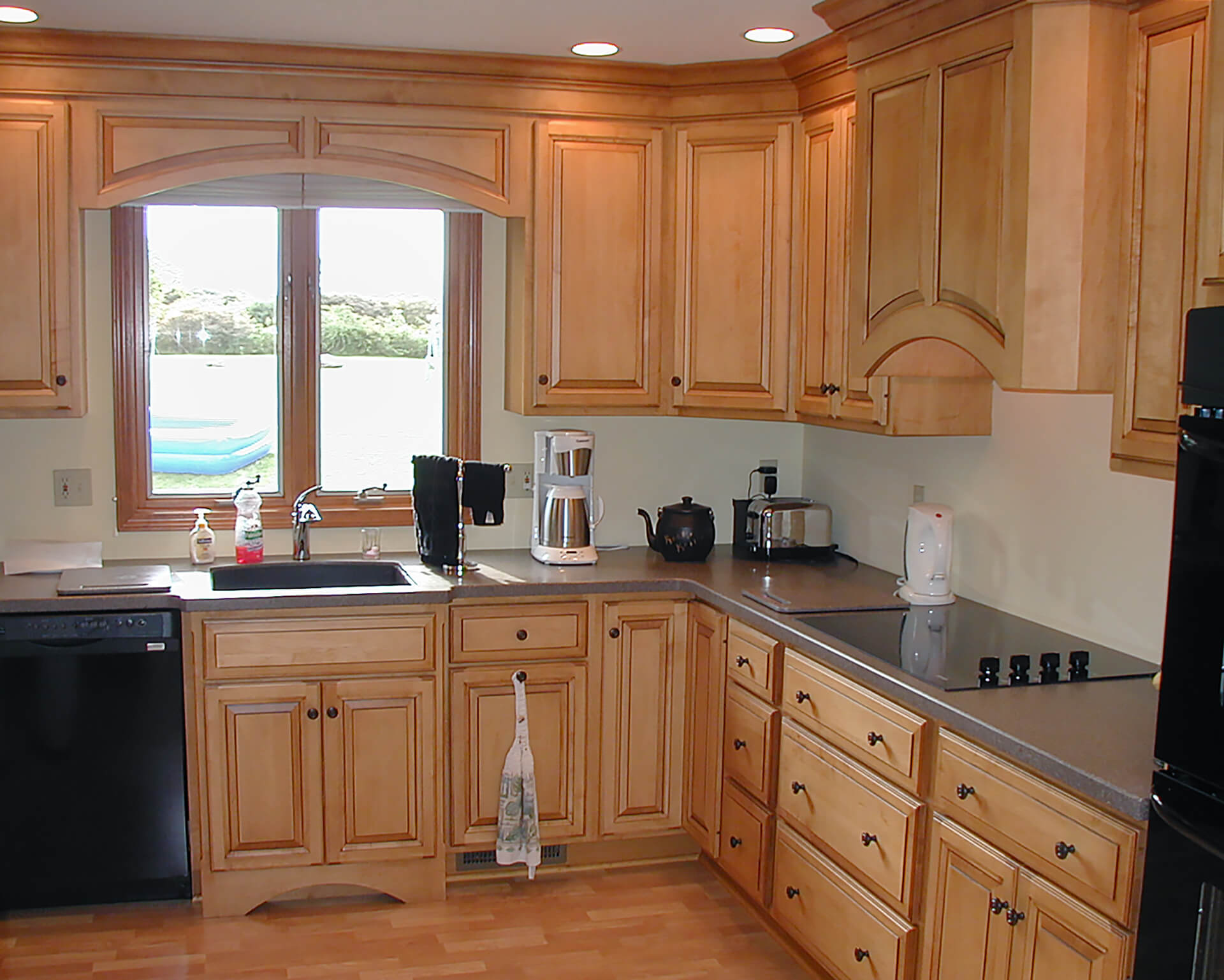 remodel works bath & kitchen natural maple cabinets kinetic and gallery photo