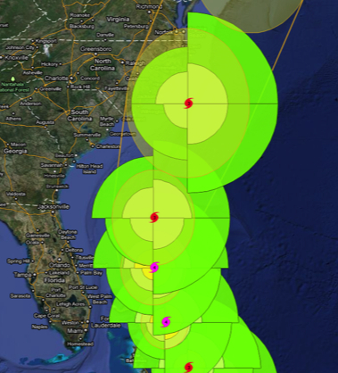 Weather Underground Graphic of Hurricane Irene, Aug 2011