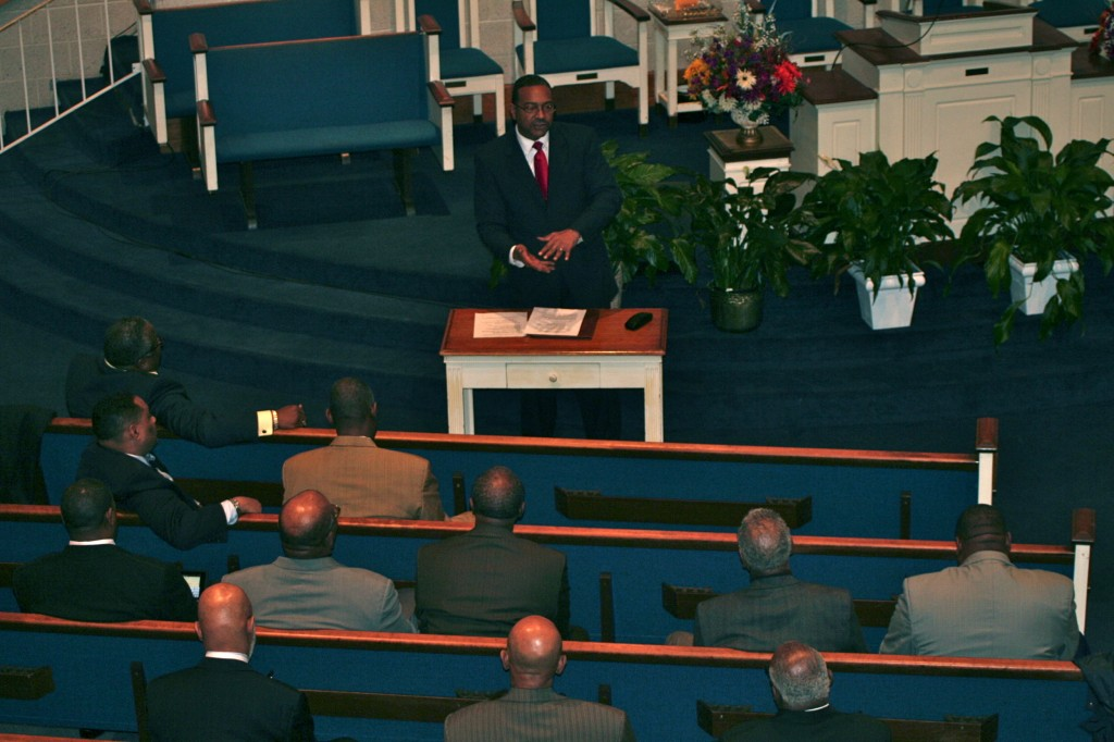 State Senator C. Anthony Muse Speaks With Baltimore Clergy (Credit: Heber Brown)