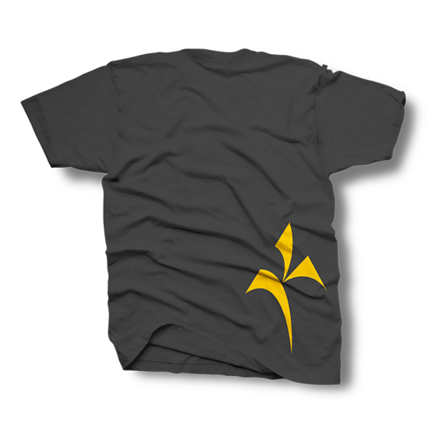 Kinetik Logo Shirt – Gray and Yellow