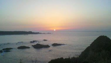 潮岬の朝焼け