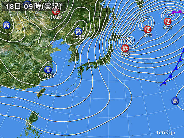 名古屋の天気図(引用)