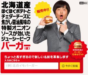 名前募集バーガー キャンペーン McDonald s