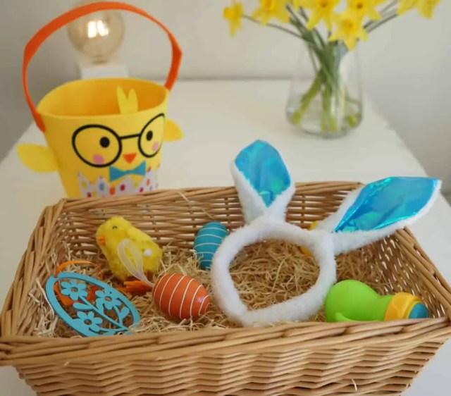 sensory basket, spring sensory basket