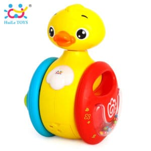 Huile-toys-YOYO-duck-roly-poly-rolling-baby-toys-electric-music-duck-with-sound-kids-rattles