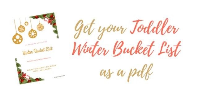 toddler winter bucket list