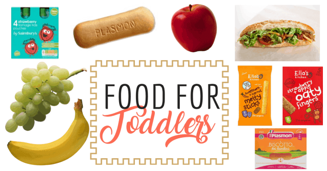 food for toddlers, plasmon biscuits, sandwich, ella's kitchen, banana, grapes, fromage frais pouches