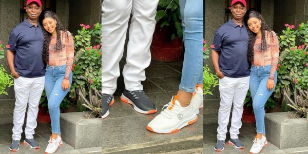 Regina Daniels And Billionaire Husband In Lovely Mood As They Step Out In Her Customized Sneakers