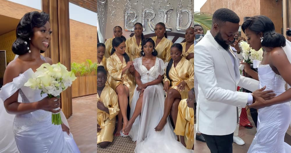 Beautiful Photos And Videos Drops From White Wedding Of Sika Osei