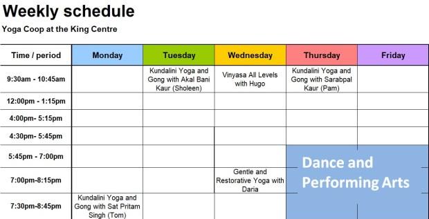 11-1-18 weekly schedule