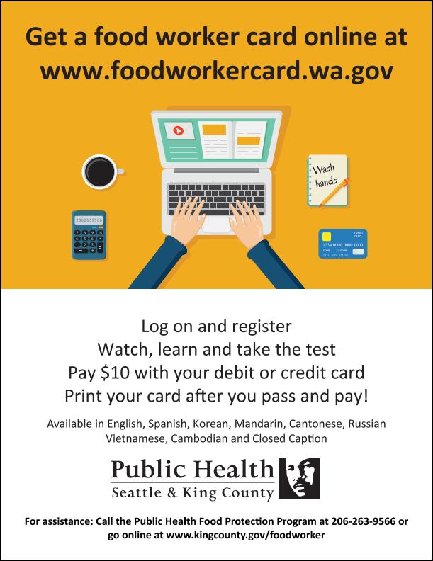 To RENEW a Food Worker Card - SRHD