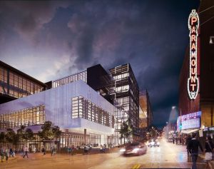 Architectural rendering of the planned Washington State Convention Center expansion