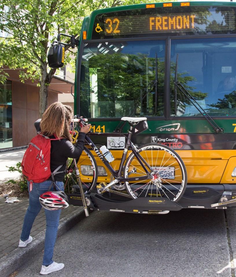 Bicycle Rack on King County Metro Bus
