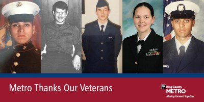 Five veterans shown who are now Metro employees