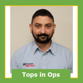 Upinder Saini, Operator of the Month, February 2021, Bellevue Base