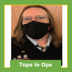 Mary Newton, March 2021 Operator of the Month, East Base