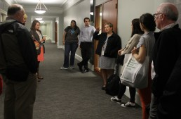 tour-of-dhb_3_gwen-clemens-dpds-chief-of-operations-talks-to-dpd-employees-at-the-beginning-of-a-recent-tour-of-the-dexter-horton-building-gwen-and-others-led-several-employee-tours-of-the