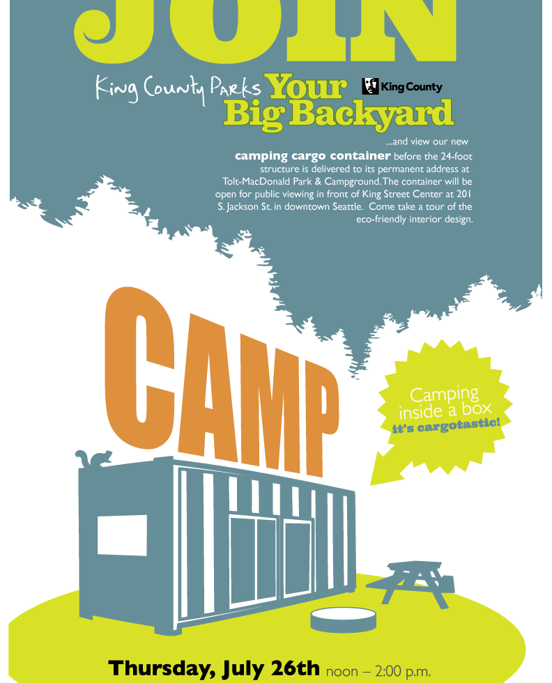 Poster: CAMPing Cargo Container