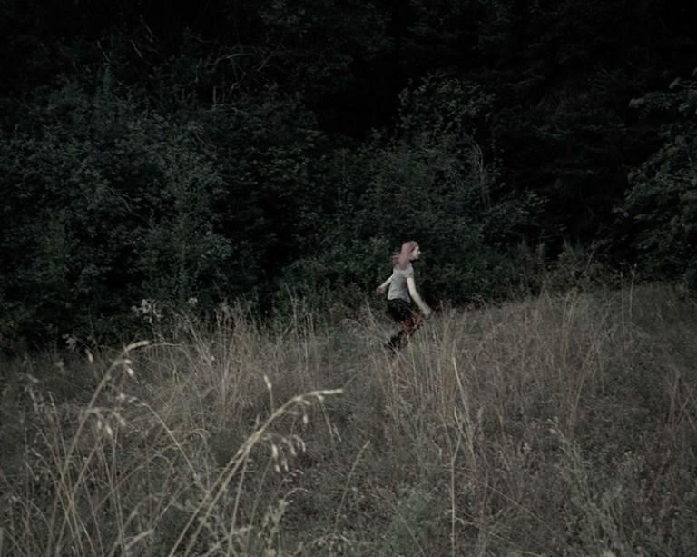 "Jenny Riffle, Running Through the Meadow, 2010, 24""x30""digital pigment print"
