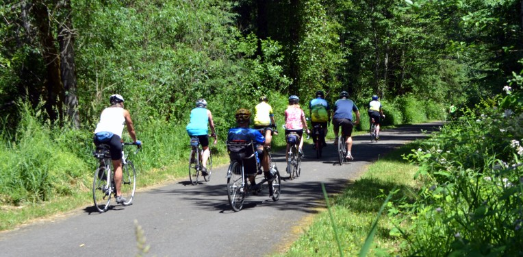 Bikers on the Buckley portion