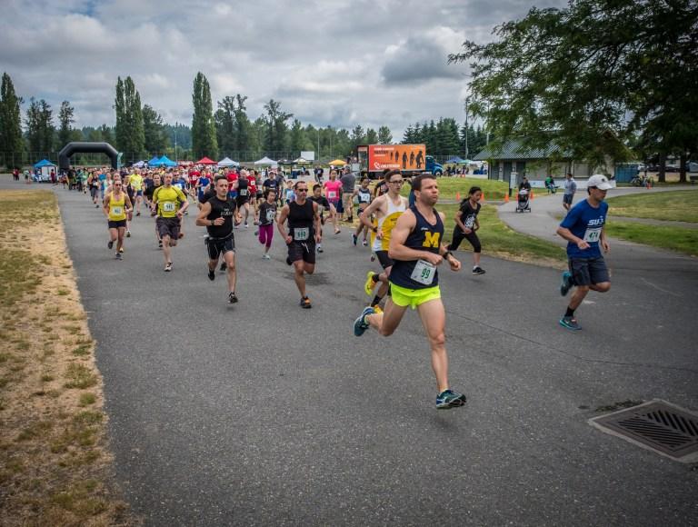 Runners in the Big Backyard 5k