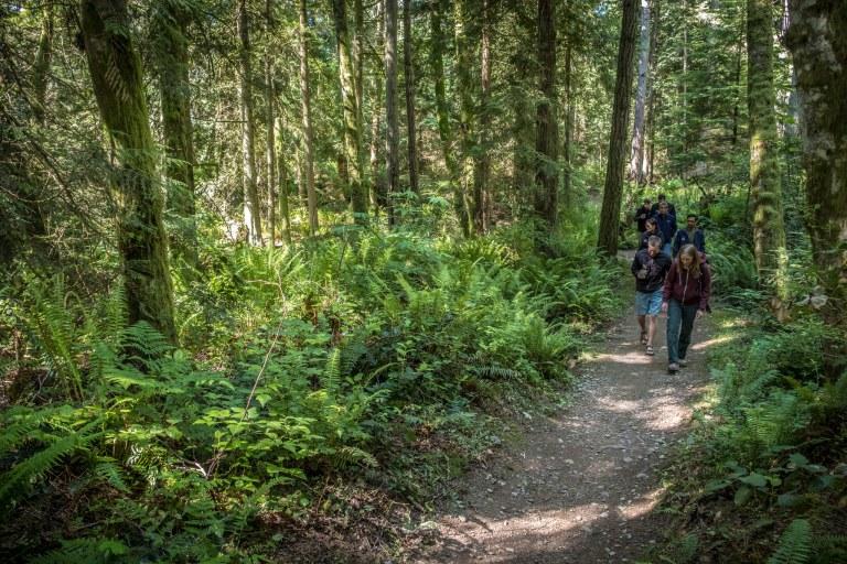 Hikers on the Grand Ridge Water Loop Trail