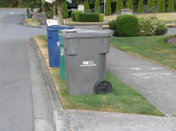 City of Kirkland curbside containers.