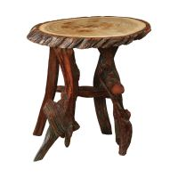 Rustic Log Oval End Table   King Dinettes   Custom Dining ...