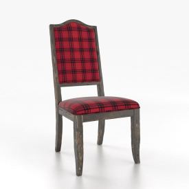 Rustic Upholstered Side Chair