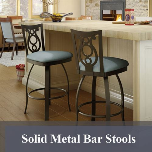 Solid Metal Bar Stools