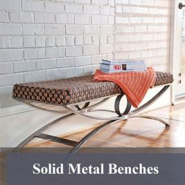 Solid Metal Benches